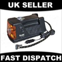 3 IN 1 12V PORTABLE ANALOGUE AIR COMPRESSOR WORKLIGHT TYRE INFLATOR PUMP CAN VAN